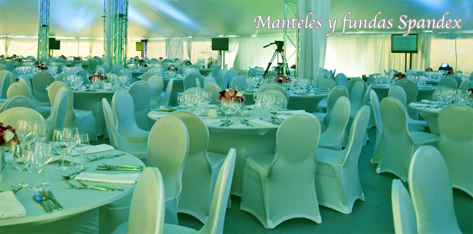 manteles spandex para eventos y banquetes